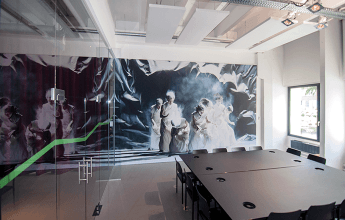 acoustic fabric printed with custom design