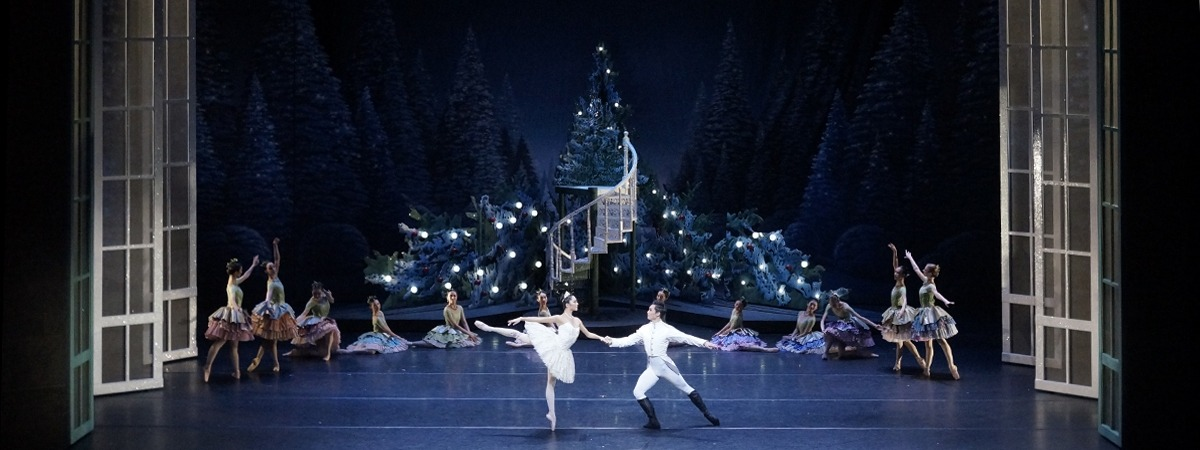 A scrim and cyclorama by ShowTex on the set of the Nutcracker