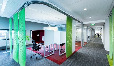 Textiles in an office space