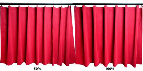 Curtain fullness 100% vs 50%