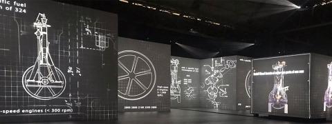 Automobile Barcelona - projections on AV Drop
