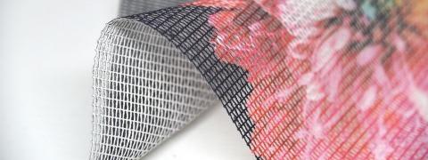 Cotton Mesh Print - printed mesh