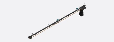 Rail H100 - curtain track
